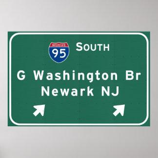 George Washington-Brücke zwischenstaatliches I-95 Poster