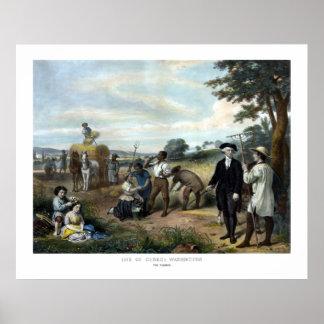George Washington der Bauer Poster