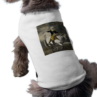 George Washington in Trenton Ärmelfreies Hunde-Shirt