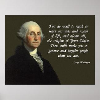 George Washington-Jesus Christus Poster