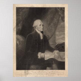 GEORGE WASHINGTON-Porträt durch Edward-Savage Poster