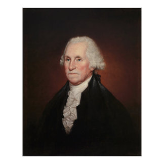 GEORGE WASHINGTON-Porträt durch Rembrandt Peale Poster