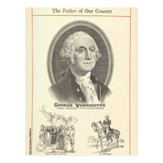 George Washington Postkarte