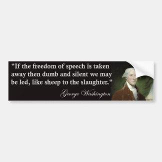 George Washington-Redefreiheit Zitat Autoaufkleber