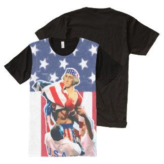 George Washington-Unabhängigkeitstag T-Shirt Mit Komplett Bedruckbarer Vorderseite