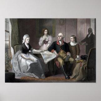 George Washington und seine Familie Poster