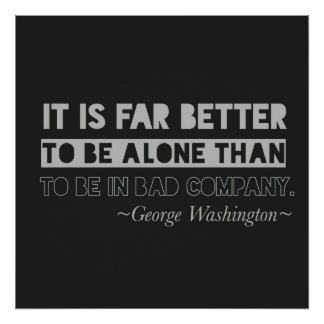 George Washington-Zitat-Typografie-Schwarzes u. Poster