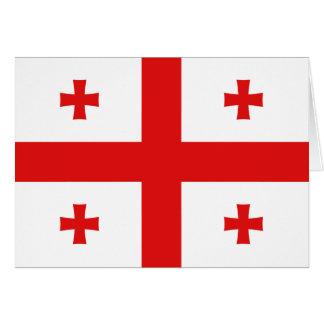 Georgia-Flagge Notecard Karte
