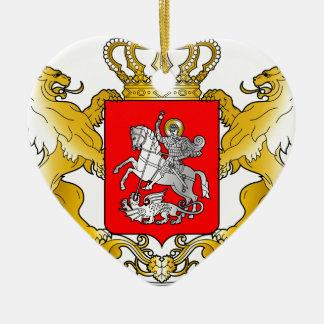 Georgia's_Large_Coat_of_Arms Keramik Herz-Ornament
