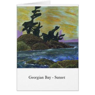 Georgische Bucht - Sonnenuntergang Karte