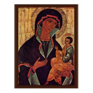 Georgisches Madonna durch Meister Der Schule Von Postkarte