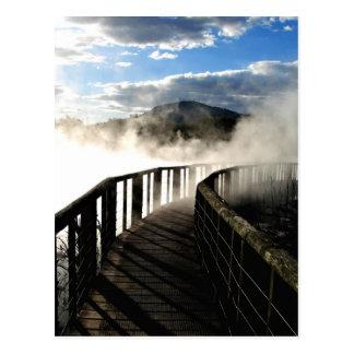 Geothermische Tätigkeit an Kuirau Park, Neuseeland Postkarte