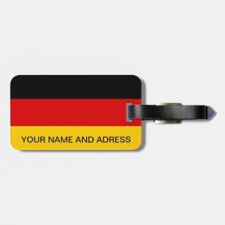 Gepäckanhänger mit Flagge von Deutschland