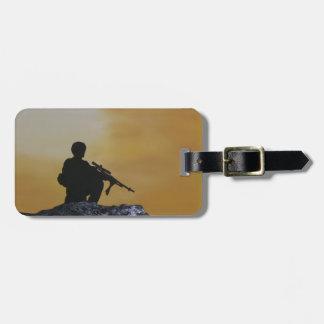 """Gepäckanhänger-Soldat """"auf Schutz """" Gepäckanhänger"""