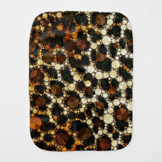 Gepard Bling Burp-Stoff Brown/Schwarzes/Creme Spucktuch