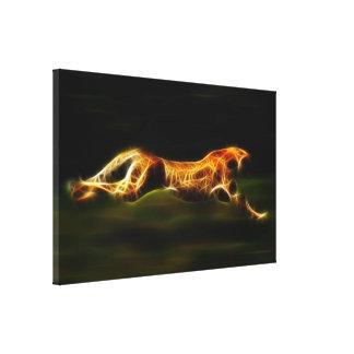 Gepard, der sein Opfer jagt Leinwanddruck