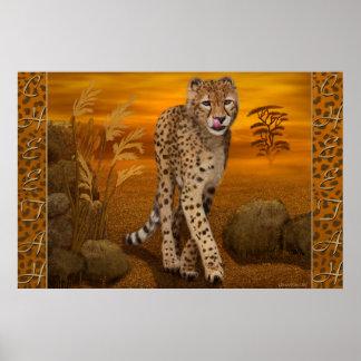 """""""Gepard-"""" Kunst-Plakat"""