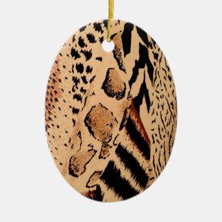 Gepard-Muster Ovales Keramik Ornament