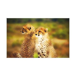Gepard-Paare Leinwanddruck