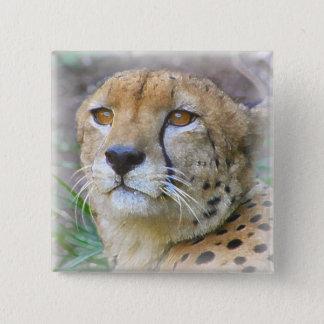 Gepard Quadratischer Button 5,1 Cm