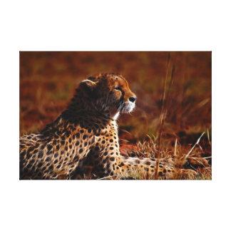Gepard und Gott Leinwanddruck