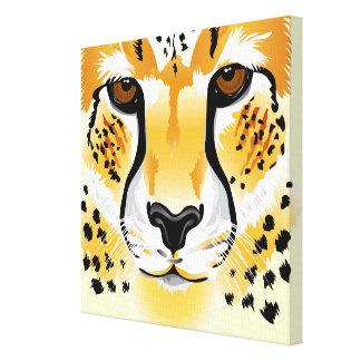 Gepardhauptnahaufnahmeillustration Leinwanddruck