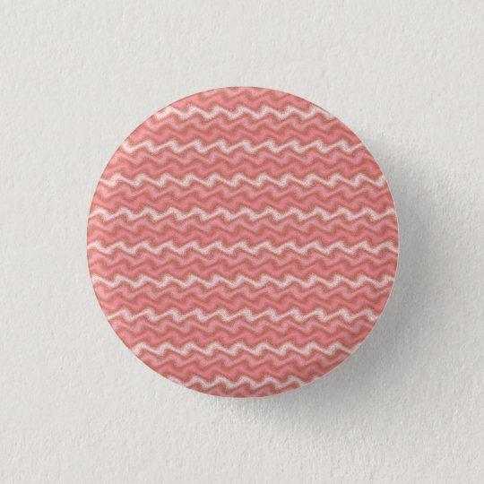 Geplätscherter rosa Knopf Runder Button 2,5 Cm