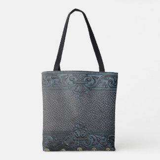 gepresstes Vintages Dekorum der ledernen Tasche