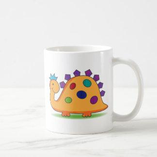 Gepunkteter Dinosaurier des niedlichen und bunten Kaffeetasse
