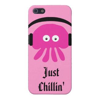 Gerade Chillin rosa Quallen mit Köpfen Hülle Fürs iPhone 5