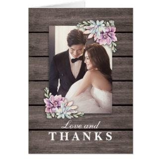 Gerade danken verheiratete | rustikale saftige karte