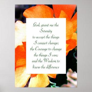 Gerade ein Unkraut-Ruhe-Gebet Poster