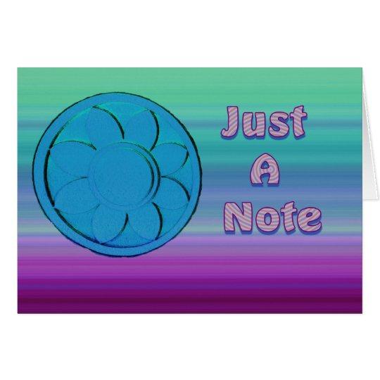 gerade eine Anmerkung blau und lila Karte