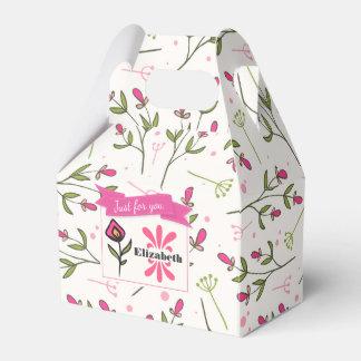 Gerade für Sie Wildblume mit den rosa orange Geschenkschachtel
