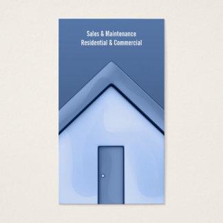 Gerade Haus-Visitenkarte Visitenkarte