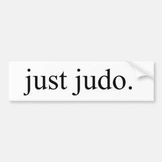 Gerade Judo Autoaufkleber