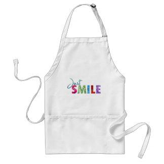 Gerade Lächeln-glückliches Zitat 01 Schürze