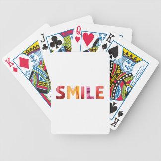Gerade Lächeln-glückliches Zitat 04 Bicycle Spielkarten
