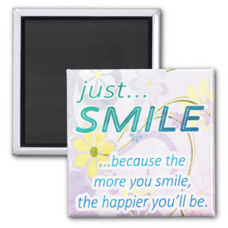 Gerade Lächeln Quadratischer Magnet