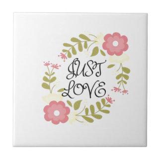 Gerade Liebe mit Blumen Keramikfliese