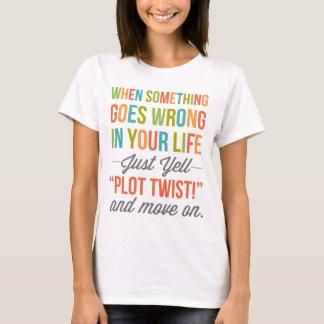 Gerade Schrei-Plan-Drehung T-Shirt