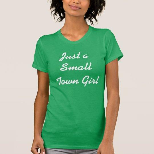 """""""Gerade T - Shirt eines kleine Stadtmädchens"""""""