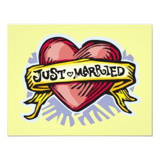 Gerade verheiratet 10,8 x 14 cm einladungskarte