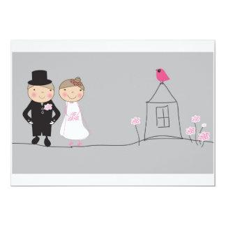 gerade verheiratet 12,7 x 17,8 cm einladungskarte