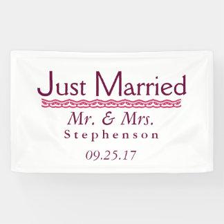 Gerade verheiratet banner