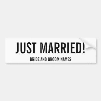 GERADE VERHEIRATET! Braut-und Autoaufkleber