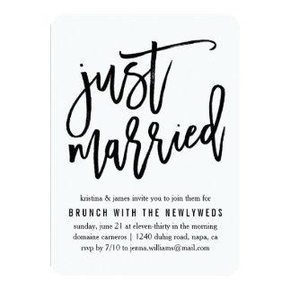Gerade verheiratete | 11,4 x 15,9 cm einladungskarte