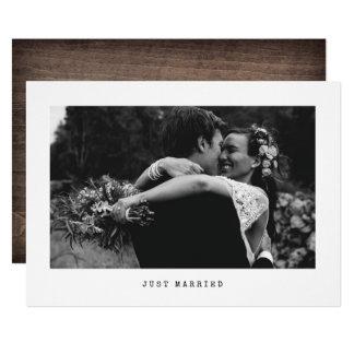 Gerade verheiratete einfache 12,7 x 17,8 cm einladungskarte