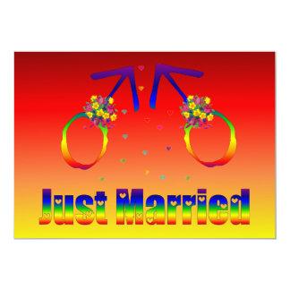 Gerade verheiratete homosexuelle Männer 12,7 X 17,8 Cm Einladungskarte