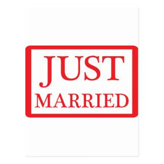 gerade verheiratete Ikone Postkarte
